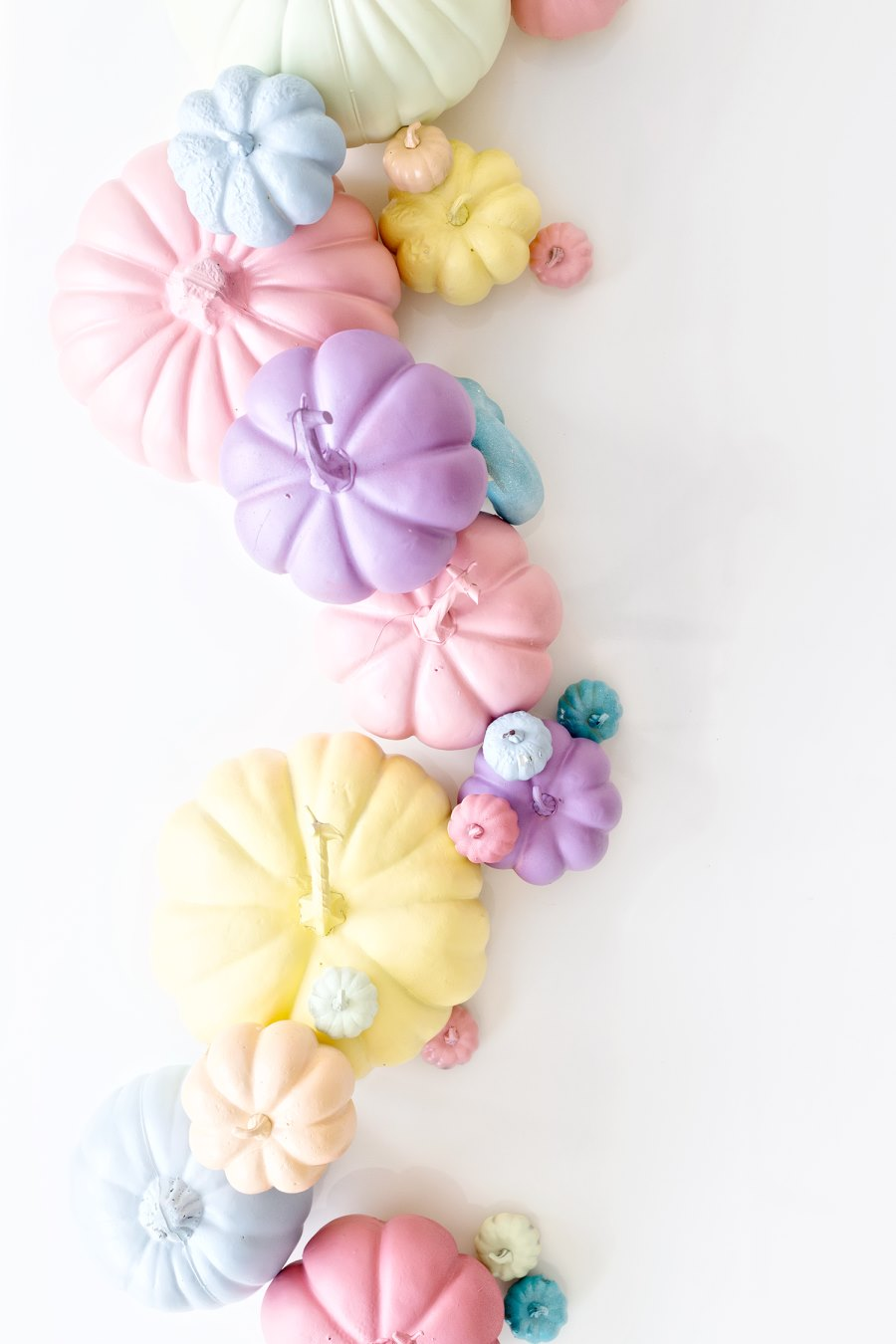 Pastel pumpkins from StudioDIY