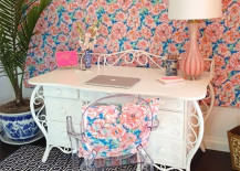 Peach and Blue Home Office 217x155 8 Ways to Incorporate the Chic Look of Chinoiserie into Your Home