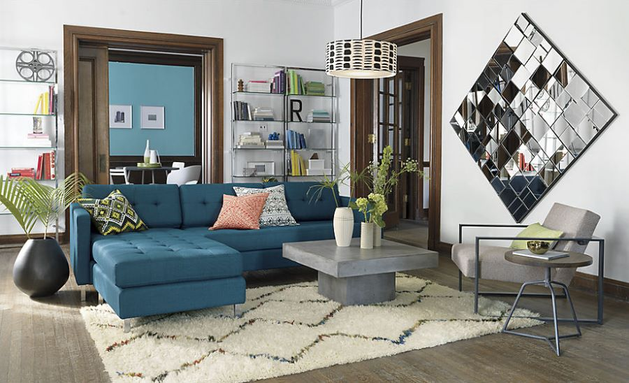 Peacock sectional sofa from CB2