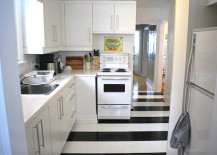 Peel-and-stick tile makeover from The Sweetest Digs