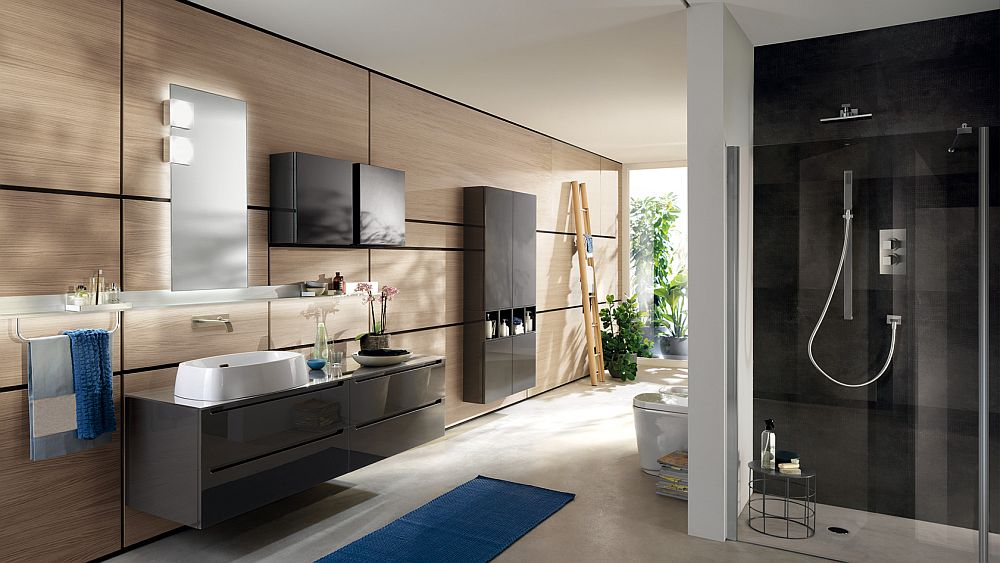 Personalized design of the Idro bathroom with a splash of gray