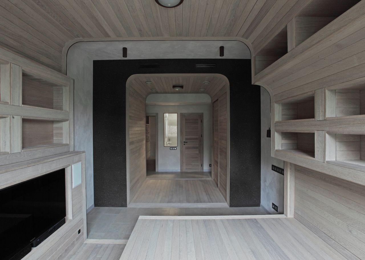 peter kostelov smolenka oak tube apartment space - Russian House Design