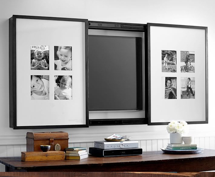 8 clever and stylish ways to disguise your tv for Decoration placoplatre