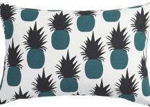 Pineapple pillow in teal and grey from CB2