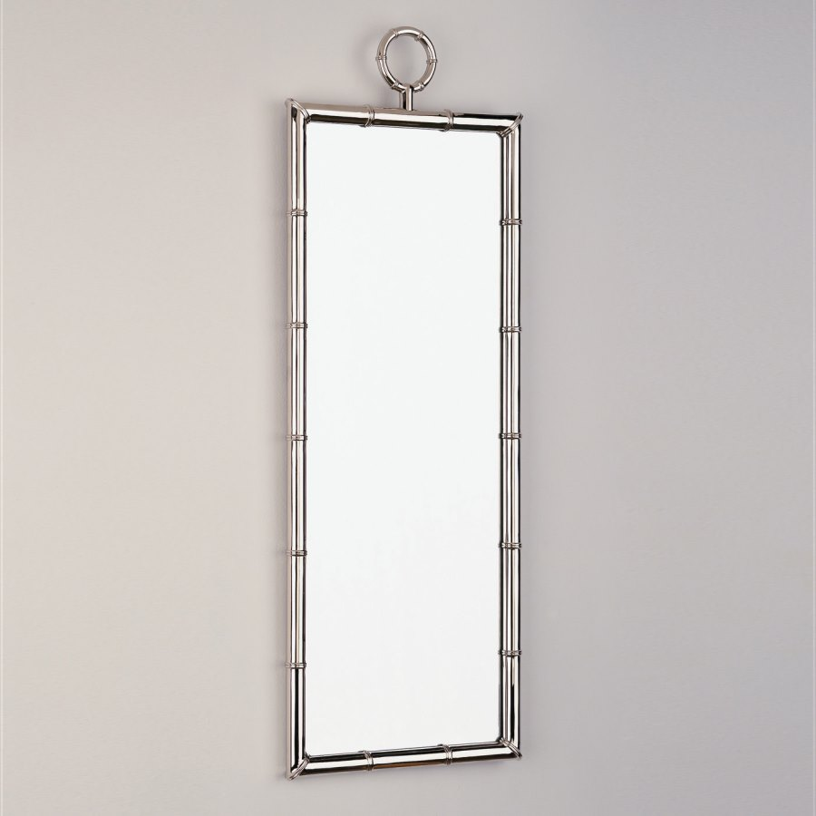 Polished nickel mirror from Jonathan Adler