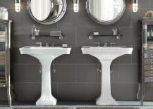 Porthole-style medicine cabinets from Restoration Hardware