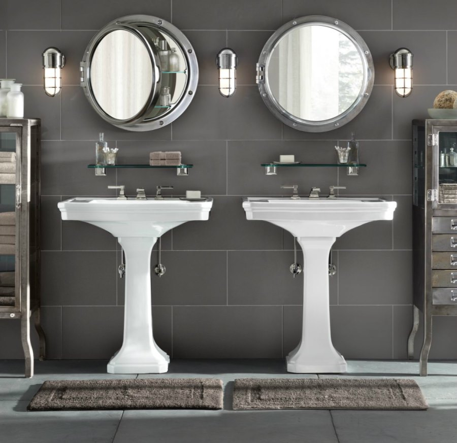 View In Gallery Porthole Style Medicine Cabinets From Restoration Hardware