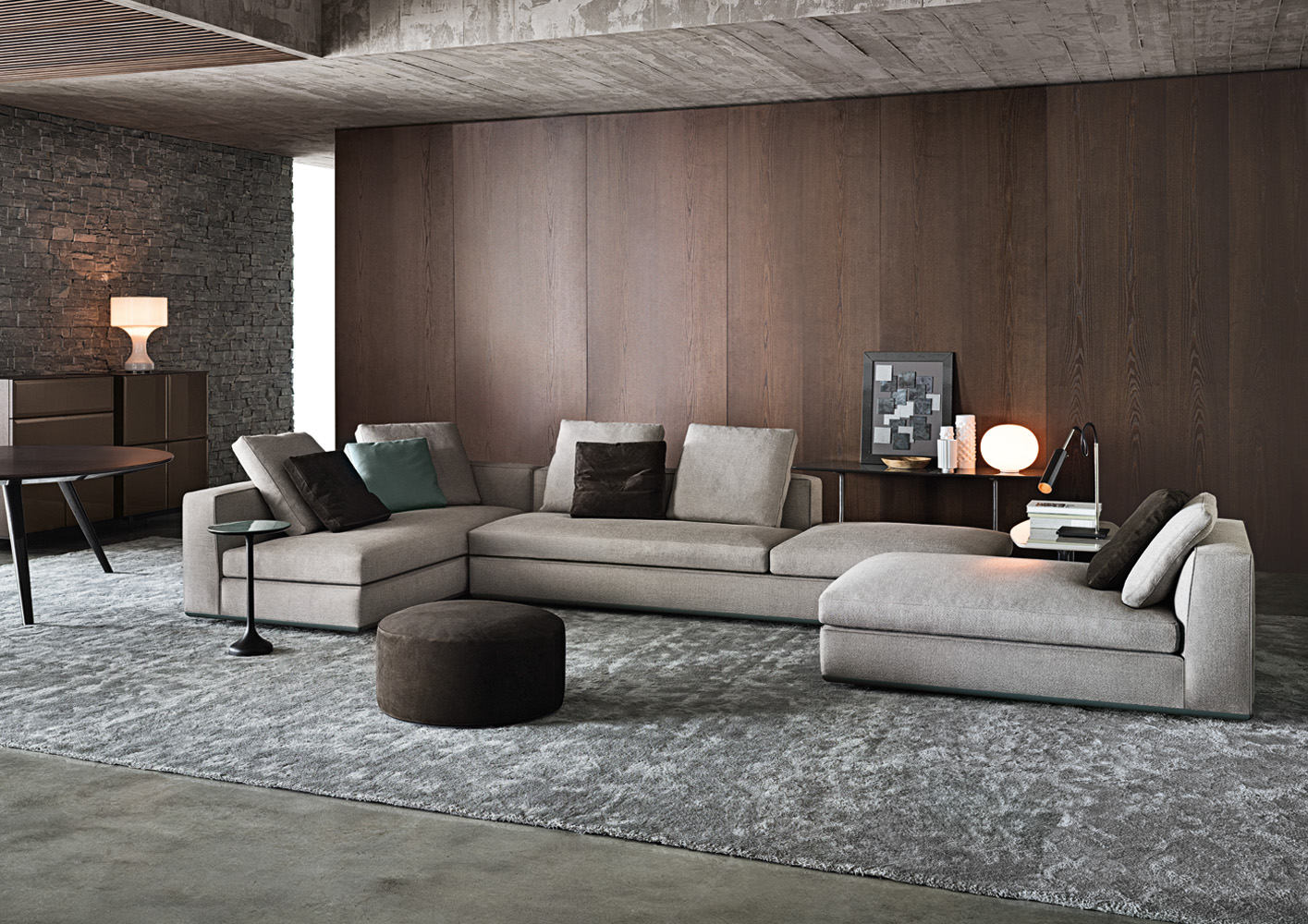 20 modish minotti sofas and seating systems. Black Bedroom Furniture Sets. Home Design Ideas
