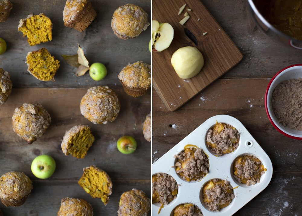 Pumpkin apple muffins from Say Yes