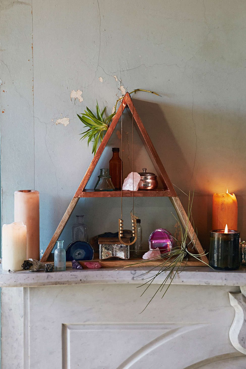 Pyramid shelving from Urban Outfitters
