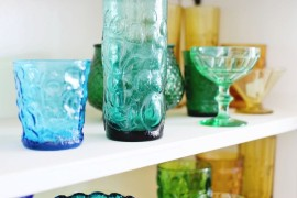 Rainbow glass collection of blogger Elsie Larson  A Fall Checklist for Design Lovers Rainbow glass collection of blogger Elsie Larson