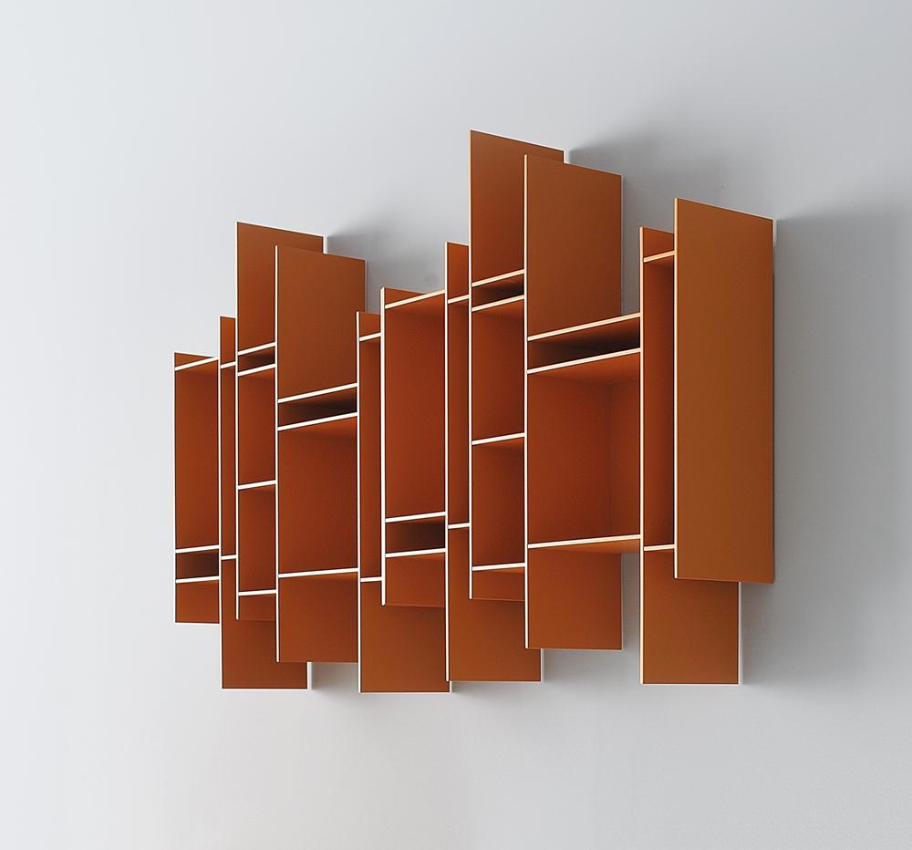 Randomito orange modular shelf
