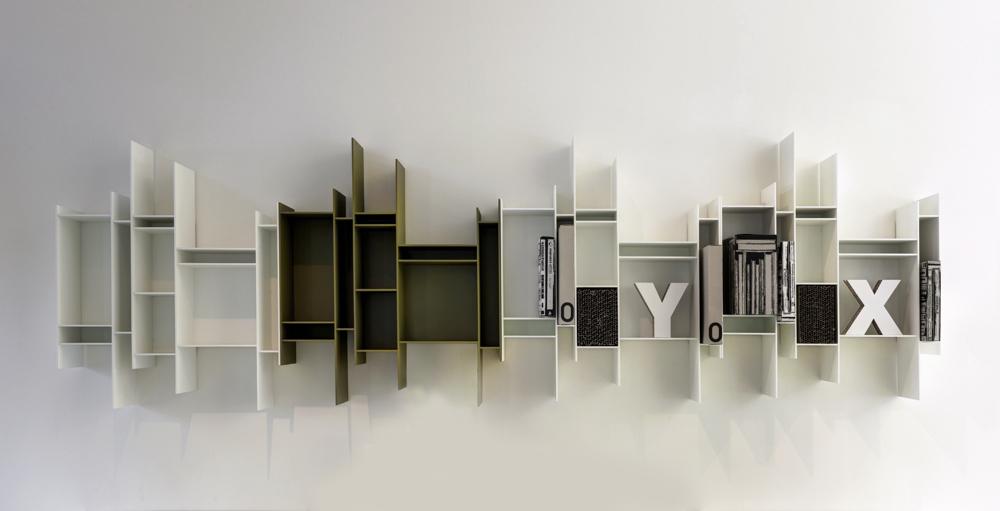 Randomito modular shelving units in combination