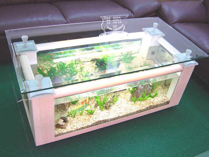 ... Rectangular Coffee Table Aquarium