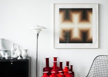 Red vases in a room by Kit Republic 217x155 Tidy Collections: Purposeful Displays That Cut Down on Clutter