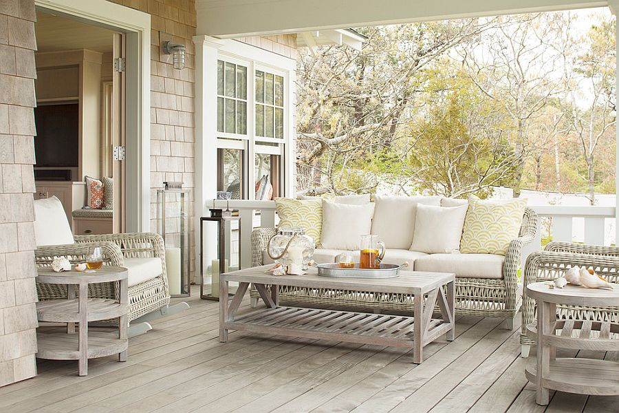 Tranquil and light color scheme for the outdoor living zone [Design: Vani Sayeed Studios]