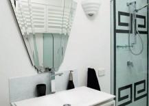 Retro flair in an upscale bathroom