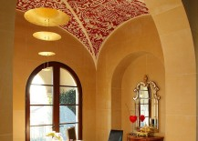 Rice-paper-wall-covering-and-handmade-stencil-ceiling-for-the-unique-home-office-217x155