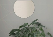 Round mirror from ferm LIVING