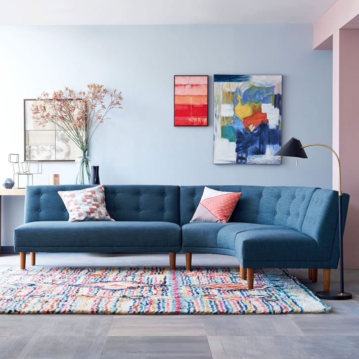 Round sectional sofa from West Elm