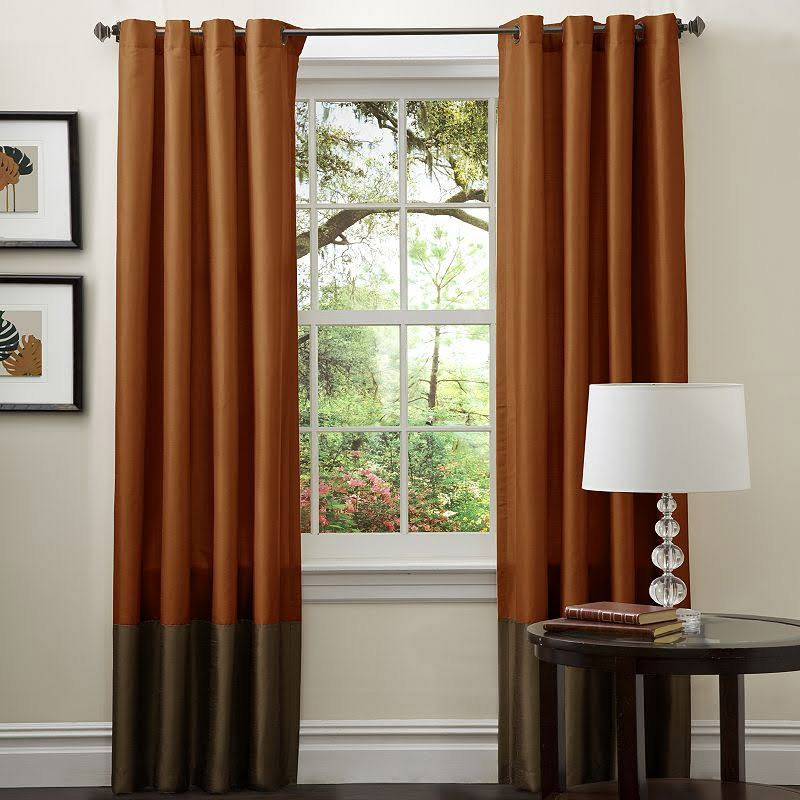 Genial View In Gallery Rust Colored Curtain Panels