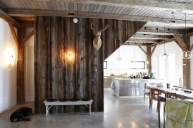 19th-Century Barn Revamped into an Energy-Efficient Rustic Home