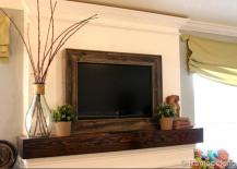 Salvaged Wooden TV Frame