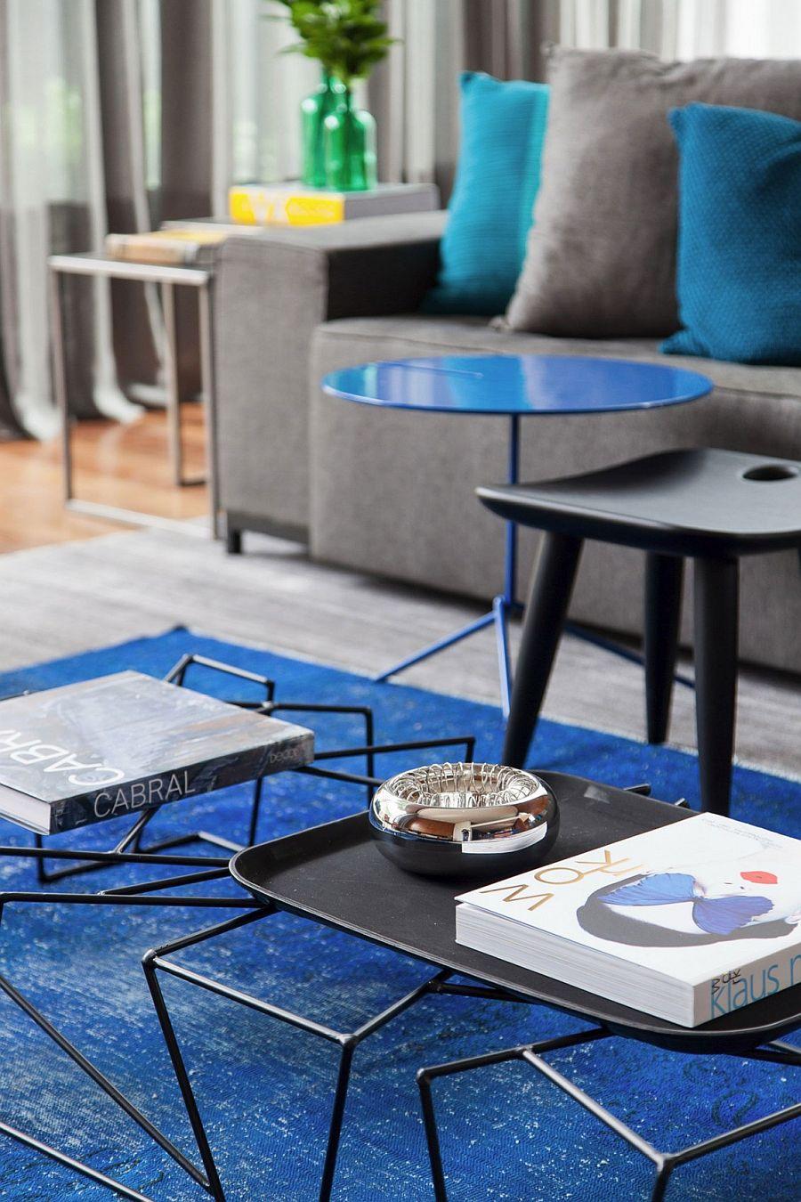 Sculptural minimal coffee table decorating idea