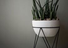 Sculptural planter from West Elm