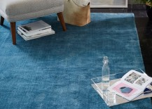 Sea blue rug from West Elm 217x155 Transitional Decor: Keep Summer Alive Throughout the Fall