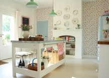 Shabby chic kitchen with pops of color [From: Love, Thomas Creative Interiors]