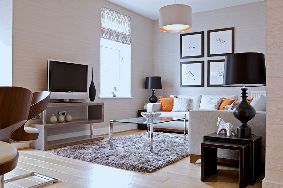 48 Small TV Rooms That Balance Style With Functionality Simple Living Room With Tv Ideas
