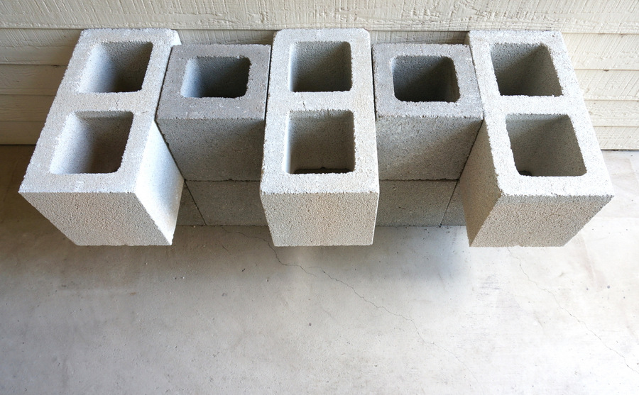 Single and double cinder blocks