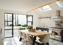 Skylights-for-the-modern-eclectic-kitchen-in-white-and-gray-217x155