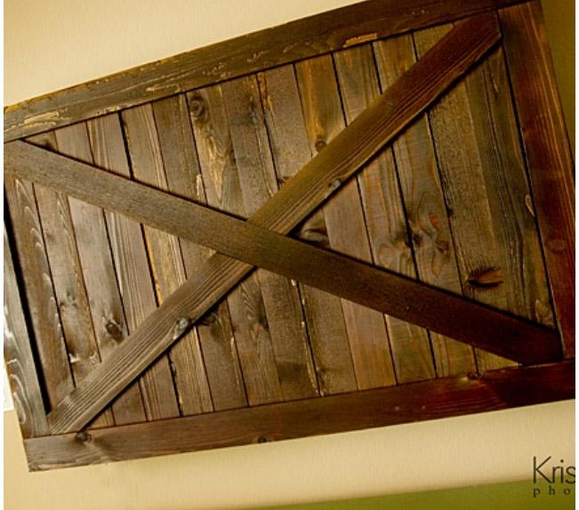 Sliding Barn Door Cover for TV