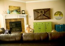 Sliding Barn Door TV Cover in Living Room