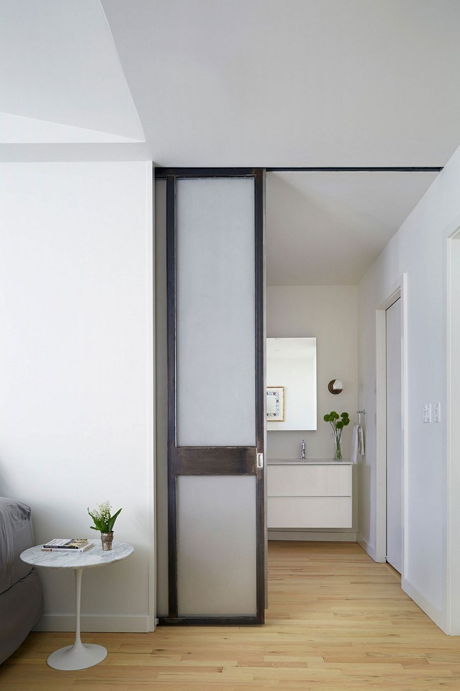 Sliding doors save up precious square footage