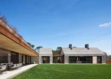 Spacious outdoors create a sense of luxury at the East Hampton home