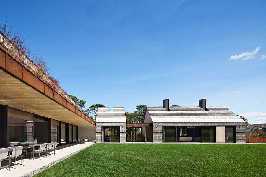 Spacious outdoors create a sense of luxury at the East Hampton home