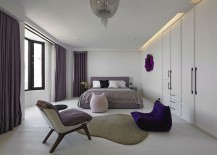 Splashes of purple for the master bedroom
