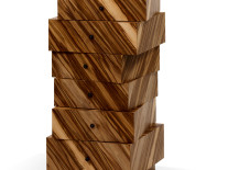 Stack of drawers in red gum