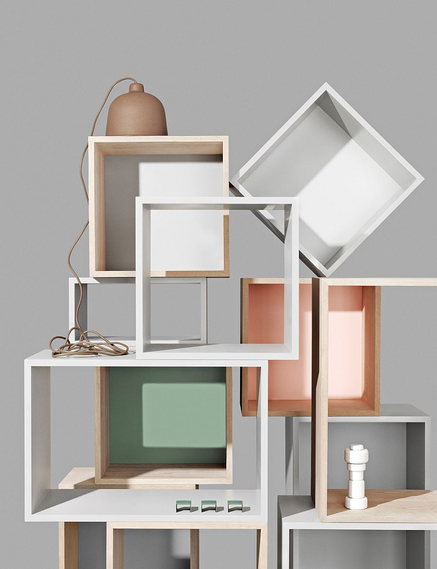 Modular stacked system designed by Julien De Smedt for Muuto