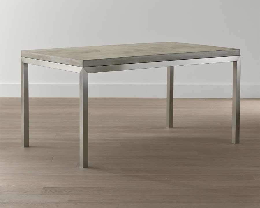 View In Gallery Stainless Steel And Concrete Dining Table