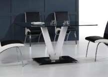 Stainless steel and glass dining table from DIYTrade