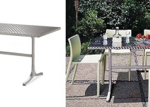 Stainless steel dining table from Design Within Reach