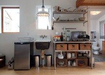 Stainless-steel-table-and-shelves-for-the-small-kitchen-with-industrial-eclectic-look-217x155