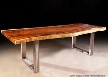 Stainless steel table legs from eBay seller World Bazaar Exotics