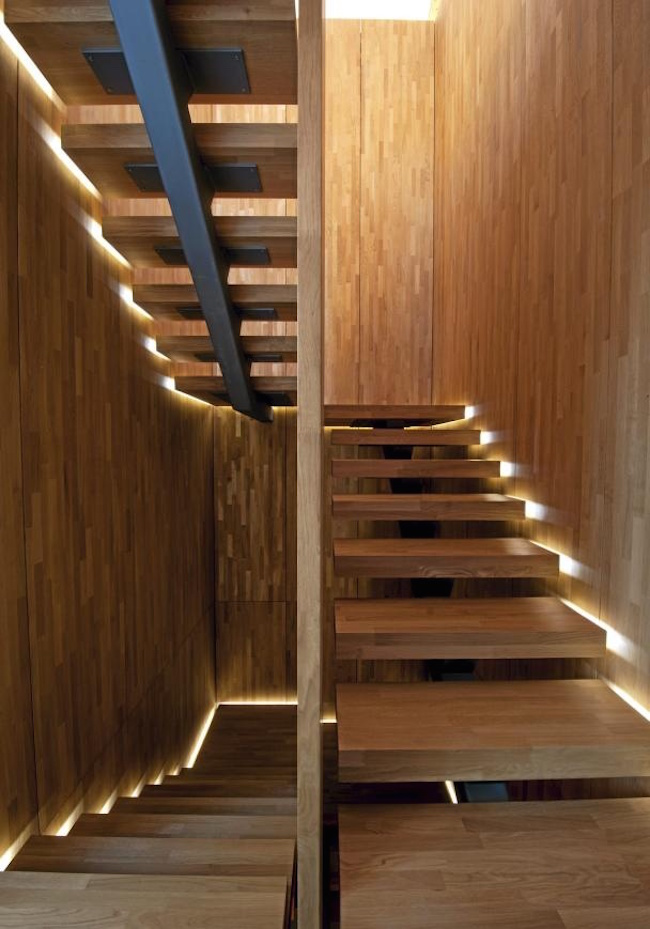 view in gallery staircase with lighting along the sides for a floating look amazing steps
