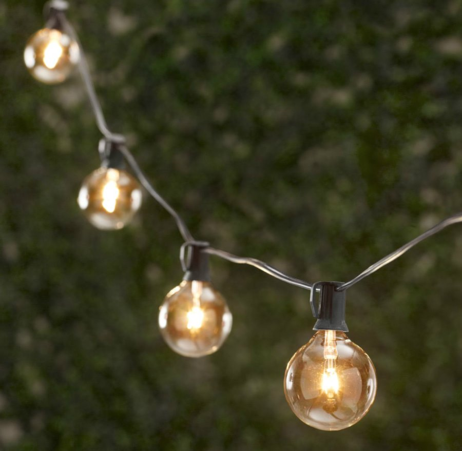 String lights from Restoration Hardware