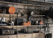 industrial style modular shelving system